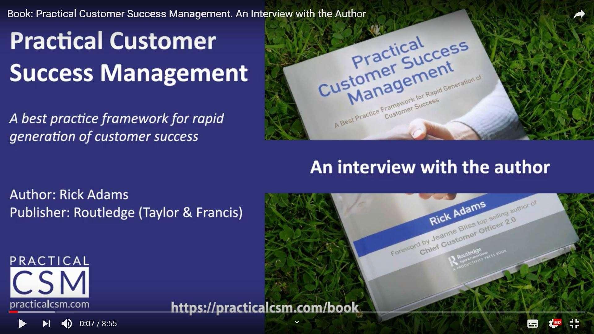Practical Customer Success Management: Author Interview