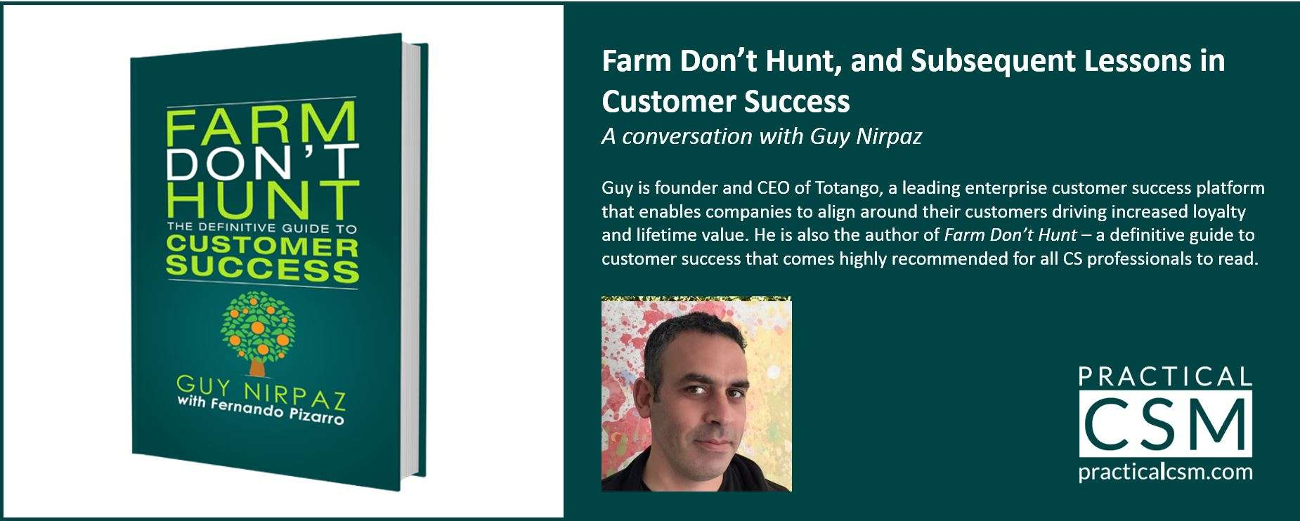 The Definitive Guide to Customer Success Farm Dont Hunt